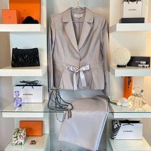 TAHARI Arthur S. Levine Silver suit NWT